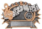 Resin Plate - Music  Academic Accolade Plate Trophy Awards