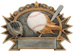 Resin Plate - Baseball  Academic Accolade Plate Trophy Awards