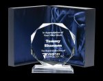 Corporate Crystal Octagon Achievement Award Trophies