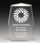 Corporate Crystal Rectangle Achievement Award Trophies