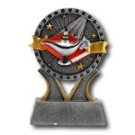 Lamp of Knowledge Banner Ribbon Resin Trophy Awards