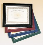 Leatherette Frame Certificate Holder Certificate Plaques