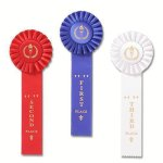 Classic Single Streamer Rosette Award Ribbon Cheerleading Award Trophies