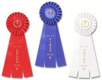 Classic Three Streamer Rosette Award Ribbon Cheerleading Award Trophies