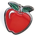 Apple Lapel Pin Chenille Lapel Pins
