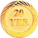 20 Year Pin Chenille Lapel Pins