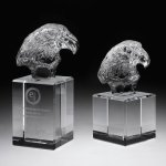 Eagle Head II Crystal Glass Awards