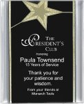 Black/Gold Star Acrylic Award Recognition Plaque Employee Awards