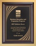 Cherry Finish Wood Plaque with Brass Plate Employee Awards