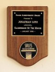 American Walnut Plaque with Medallion Employee Awards