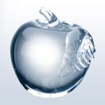 Molten Glass Apple Clear Leaf Executive Gift Awards
