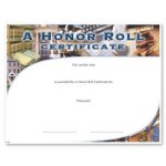 A Honor Roll Fill in the Blank Certificates