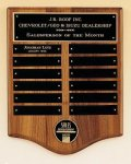 American Walnut Perpetual Plaque with Medallion Golf Awards
