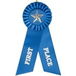 1st Place Rosette Ribbon Golf Awards
