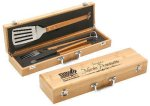 Bamboo 3 Piece BBQ Set Kitchen Gifts