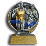 Runner - Male MXG5 Colorful Resin Trophy Awards