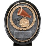 Cheer Resin Oval Oval Resin Trophy Awards