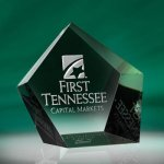 Pentangle Paper Weight Paperweight Crystal Awards