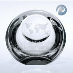 Globe Dome Paper Weight Paperweight Crystal Awards