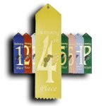 Swimming - 4th Place Peaked Top Award Ribbons