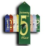 Swimming - 5th Place Peaked Top Award Ribbons