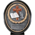 Christian Resin Oval Religious Awards