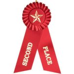 2nd Place Rosette Ribbon Rosette Award Ribbons