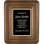 Floating Solid Walnut Plaque Sales Awards