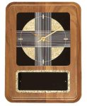 American Walnut Wall Clock with Black & Gold Crackle Face Sales Awards