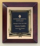 Cherry Finish Wood Frame Plaque with Wreath Sales Awards