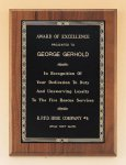 Walnut Plaque with Brass Engraving Plate Sales Awards