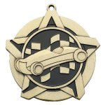 Pinewood Derby Super Star Medal  Gold Super Star Medal Awards