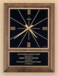American Walnut Vertical Wall Clock with Square Face. Wall Clocks
