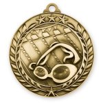 Wreath Medal -Swimming  Wreath Antique Medal Awards