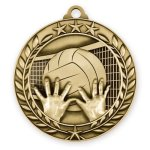 Wreath Medal -Volleyball Wreath Antique Medal Awards