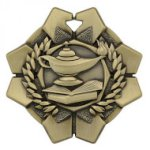 Imperial Lamp of Knowledge Medals Wreath Medal Awards